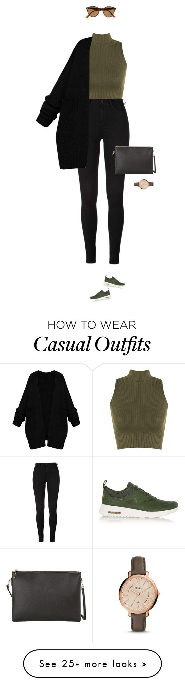 """Casual at its best !"" by azzra on Polyvore featuring WearAll, NIKE, Ray-Ban, MANGO, FOSSIL, women's clothing, women, female, woman and misses"