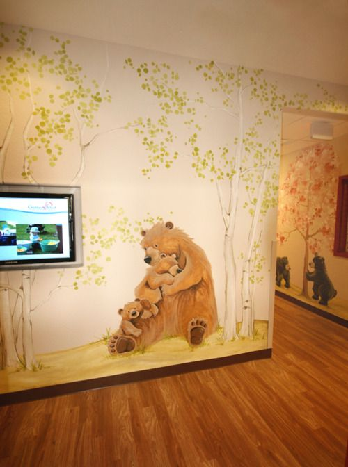entrance murals at a Colorado preschool.