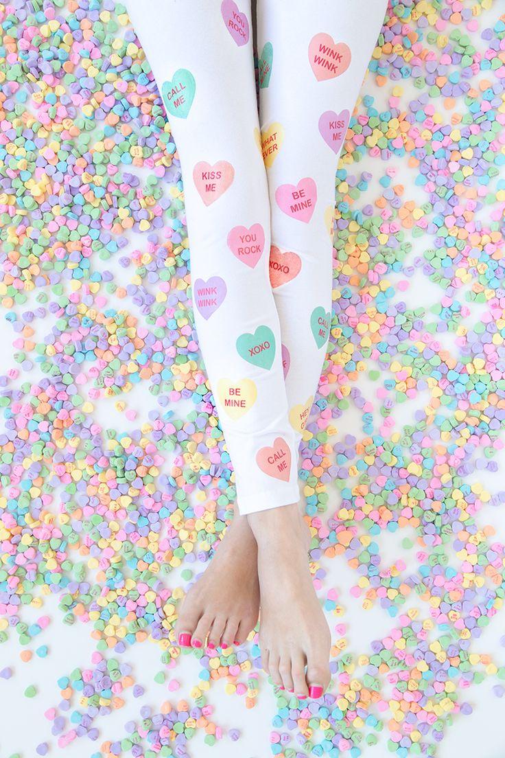 ★ Softly Pastel ★ DIY Conversation Heart Leggings