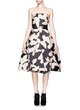 LANVIN - Butterfly jacquard strapless dress | Multi-colour Cocktail Dresses | Womenswear | Lane Crawford - Shop Designer Brands Online