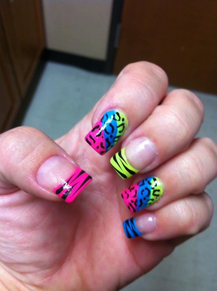 Nails! Bright n wild! :) | Nail designs | Pinterest