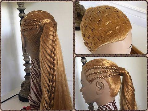 Peinado ajedrez con trenzas africanas  | Peinados Faciles y rapidos - Little princess Haiestyle - YouTube