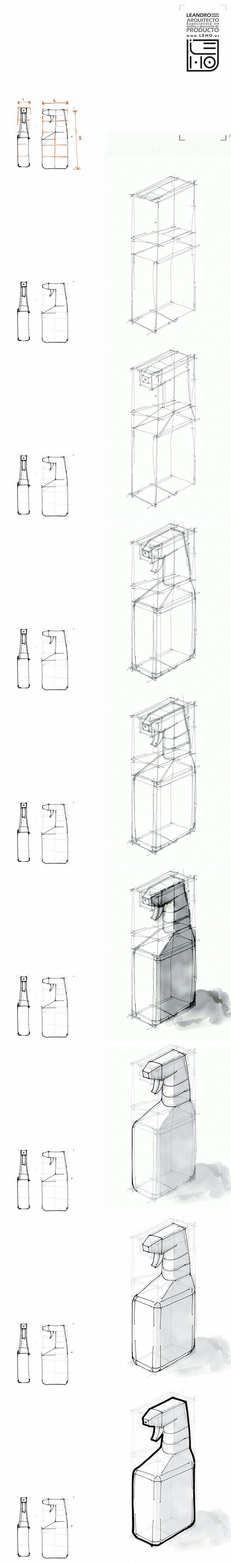 Tutorial rapido de bocetacion. Botella Bottle sketch. Hecho en Ipad con la app Paper 53
