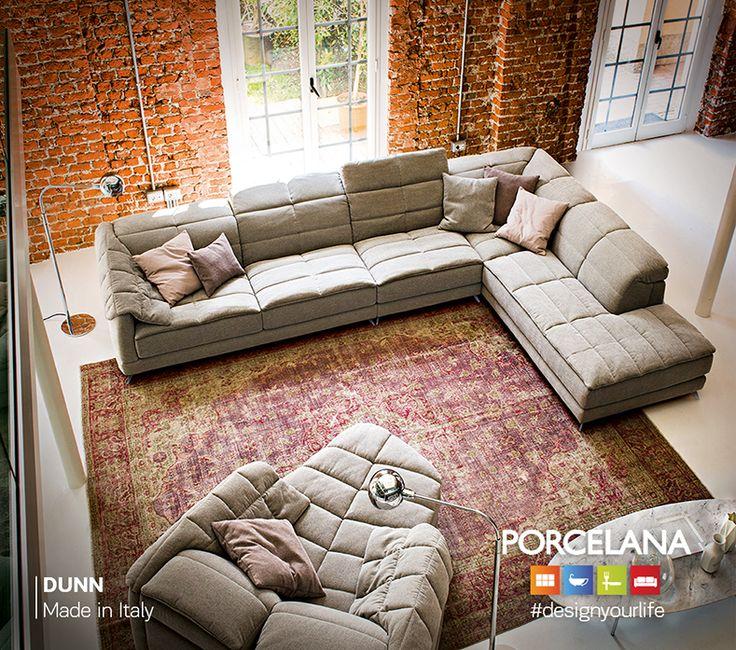 Μέσα σε ένα #industrial περιβάλλον, οι πολυτελείς λεπτομέρειες που θυμίζουν το Νεοϋορκέζικο #urban #style σηματοδοτούν την αισθητική του καθιστικού «Dunn», αποδίδοντας έναν χώρο χαλαρωτικό και #cozy! #designyourlife @ Porcelana www.porcelana.gr