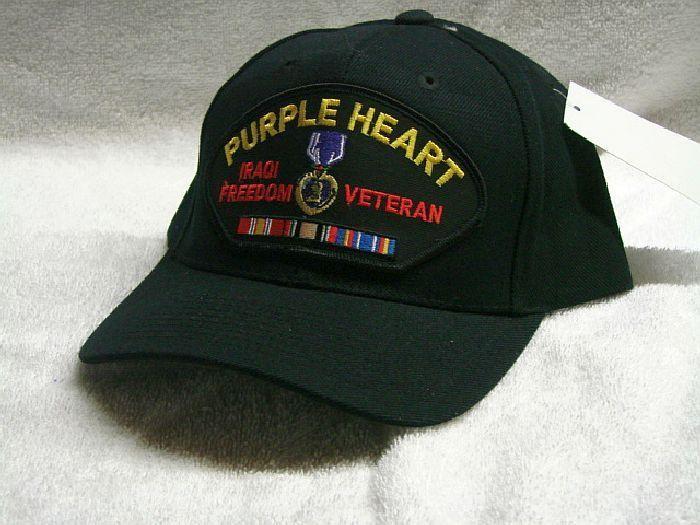 845cd4029cb Vintage Purple Heart Iraqi Freedom Veteran Low Profile Ball Cap Never Worn