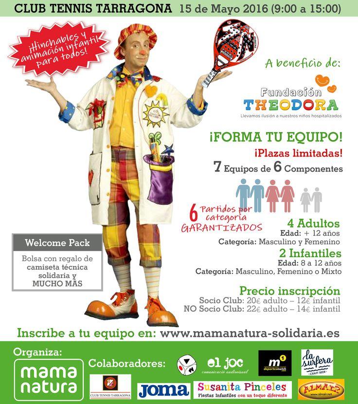 Torneo Solidario Mama Natura Tarragona Deporte, familia y amigos por la Fundación Theodora