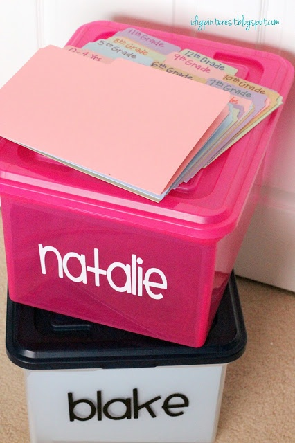 School Years File Organizers