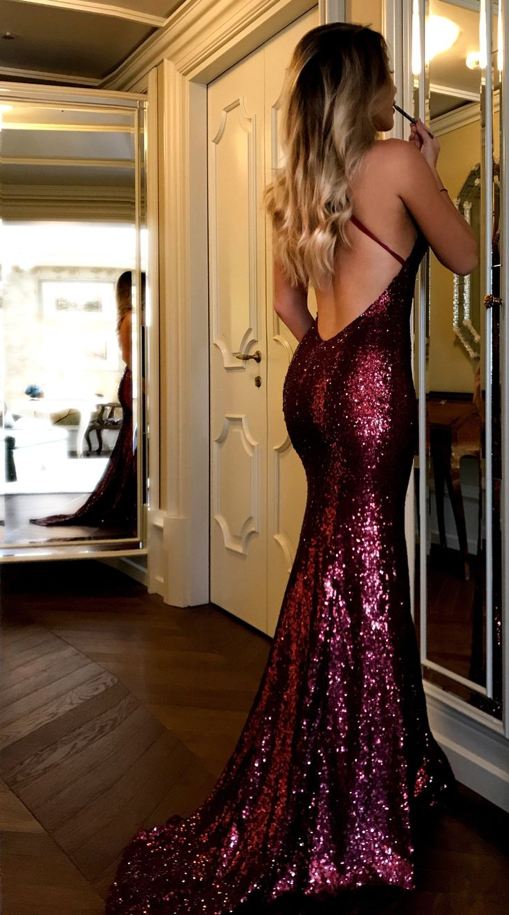 sparkly sequins burgundy long prom dress, 2018 prom dress, mermaid long prom dress formal evening dress