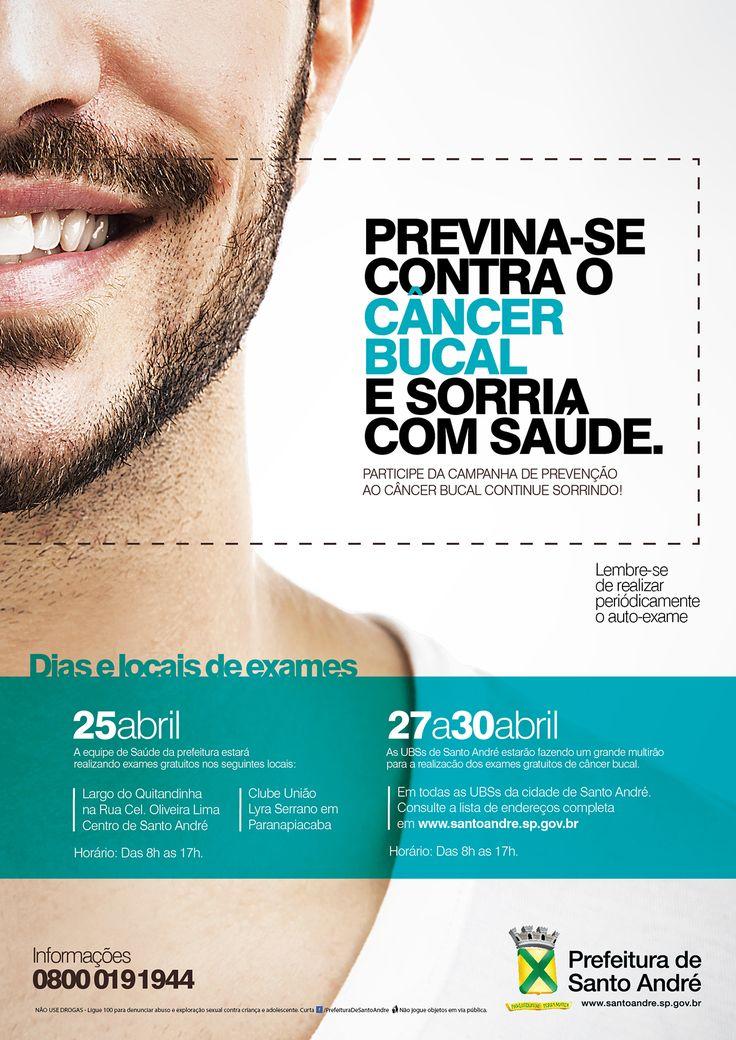 Campanha de prevenção ao câncer bucal, desenvolvida para a Prefeitura de Santo André.