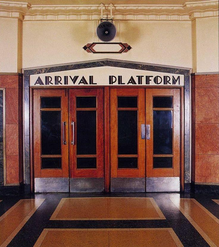 transpress nz: Art Deco font in Dunedin's former RRS bus station