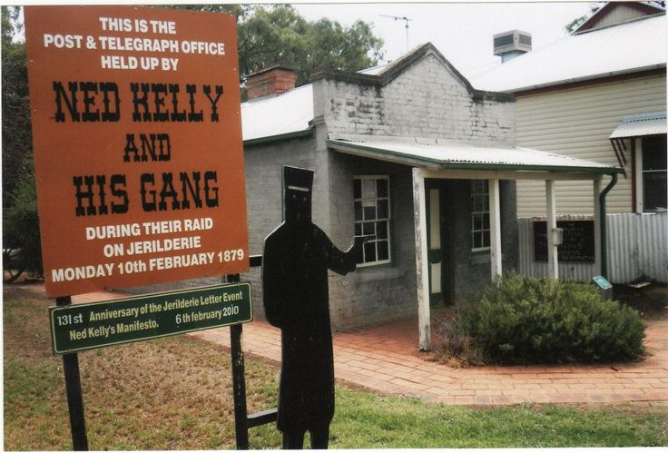Ned and the gang robbed the bank at Jerilderie in Feb 1879. This is a picture of the old telegraph office.