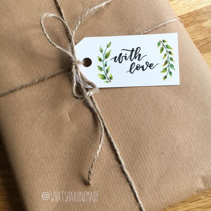 My favourite kind of wrapping - brown paper with twine. What do you think of this gift tag I made? It matches the theme of the handmade present inside (which I will share once it's been opened!) . . . #instadaily #instagood #wrappinggifts #wrappingpaper #present #giftideas #gift #handmade #handmadewithlove #handmadecommunity #handmadegifttags #handmadecards #handlettered #handlettering #handletteringpractice #lettering #letteringpractice #brushlettering #moderncalligraphy #withlove…
