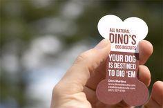 cute dog business card idea