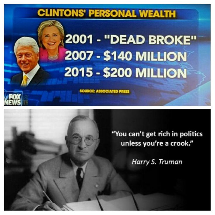 This should tell you all you need to know about the Clintons.