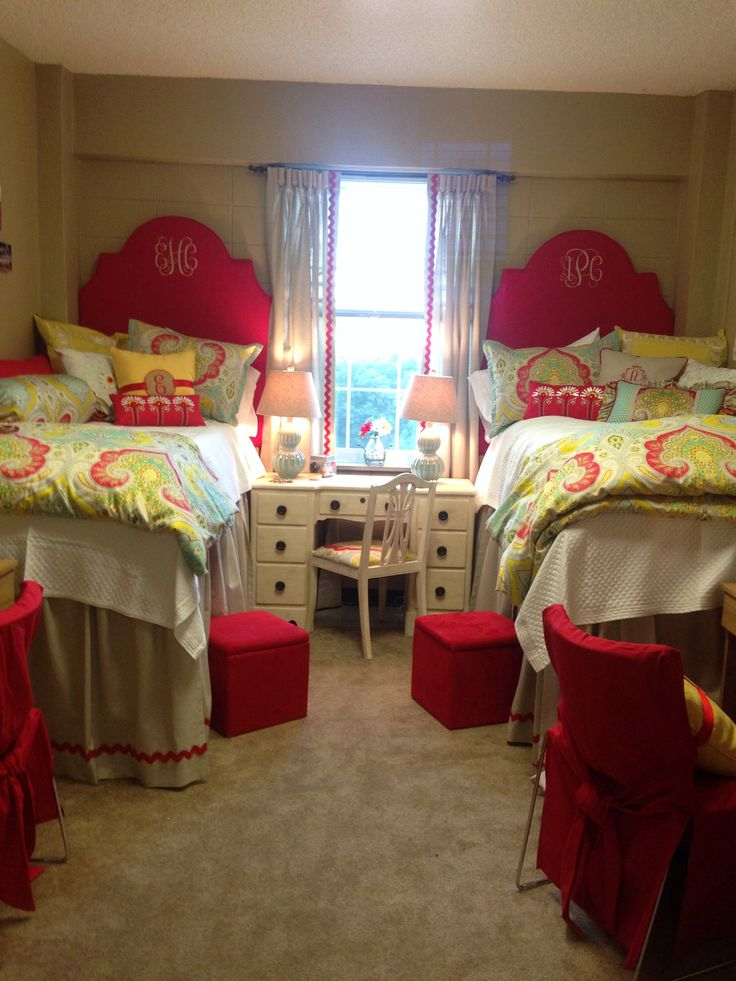 Ole Miss dorm Martin Hall....if I ever had twins I would love to do this for their room while they are young!