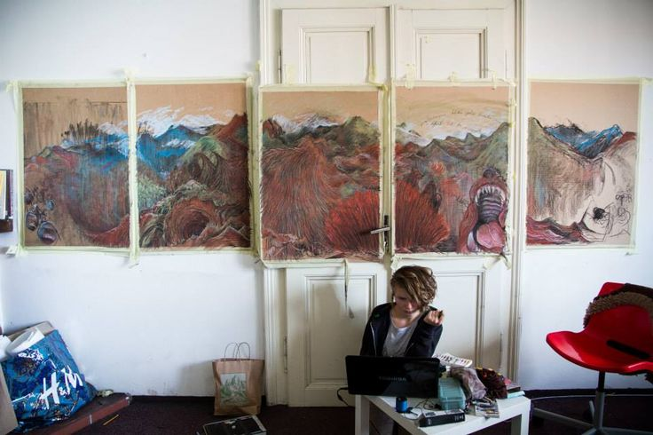 working at the project Hýkal by Julie Čermáková