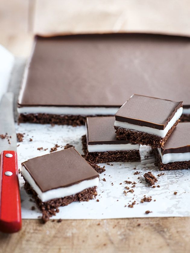 choc-peppermint slice from donna hay