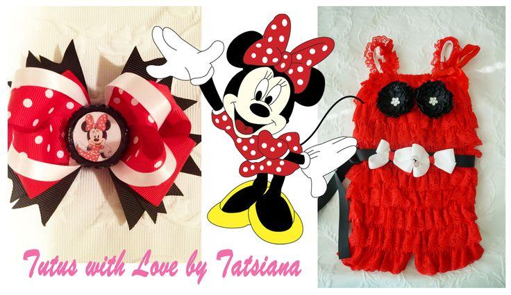 Minnie Mouse romper set