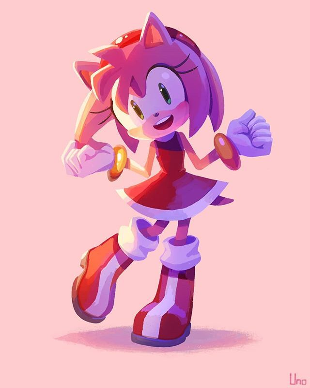 New Post By Uno Yu Ji Twitter Amyrose Amy Roses Sega Sonictheh Amy The Hedgehog Sonic The Hedgehog Sonic And Amy