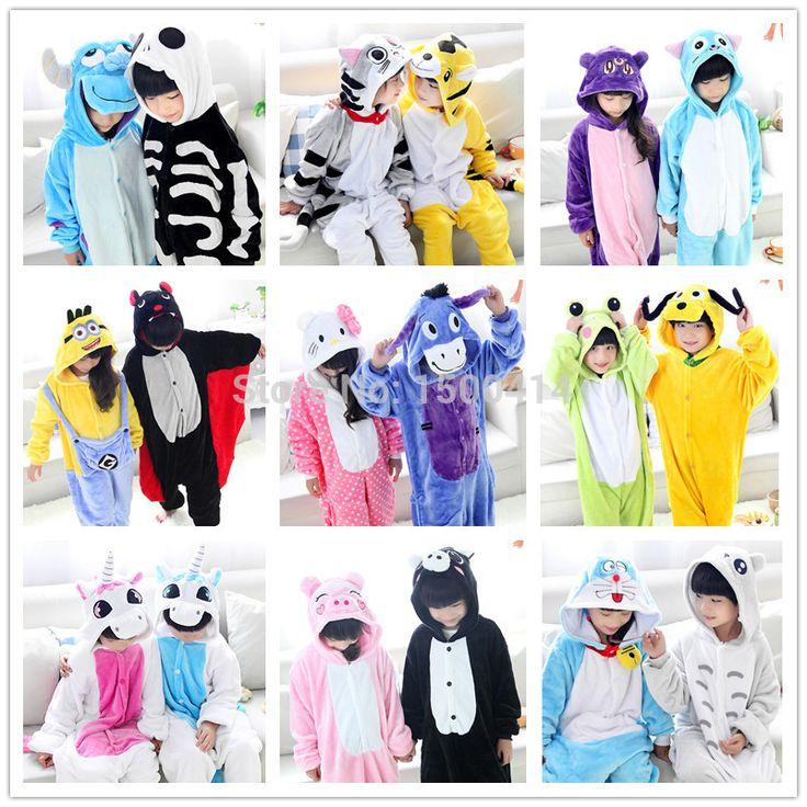 Костюм детский животные дети одежда для хэллоуина карнавал - салли тигр кот миньон летучая мышь зебра единорог собака лягушка жираф