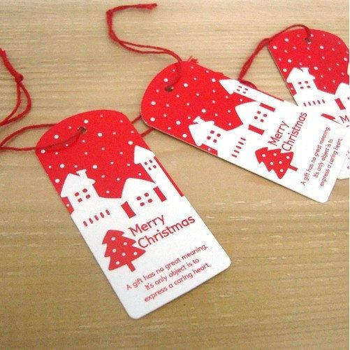Korean Christmas Gift Tag x 15pcs by Jsgiftland on Etsy