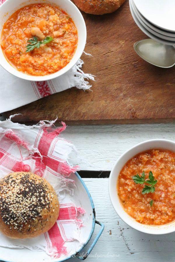Smiles Beauty and More: Zuppa di quinoa e fagioli cannellini