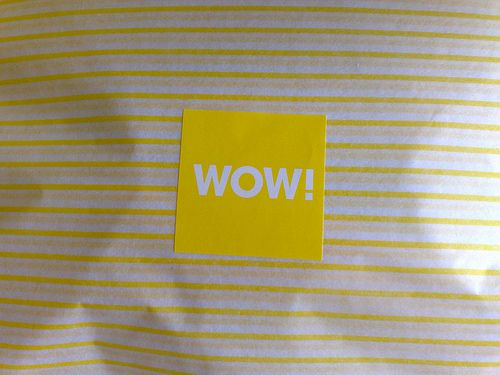 Selfridges online delivery packaging - wow