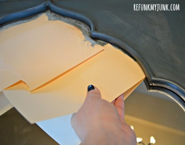 Tips for painting a mirror frame. Brilliant.