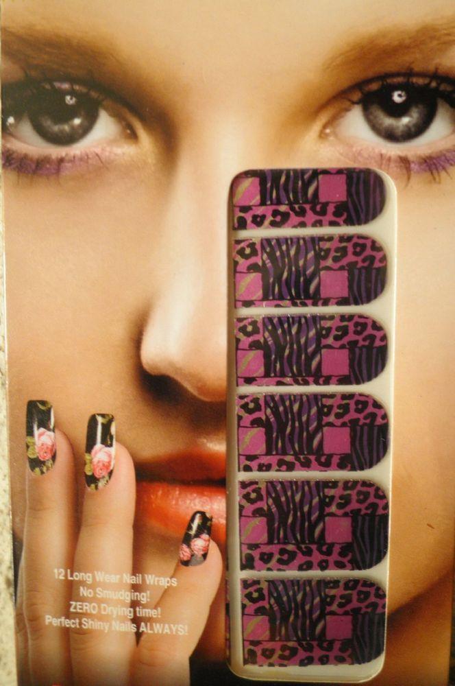 stickers ongles-bijoux autocollant-nail art-vernis-déco-léopard-panthère-zèbre