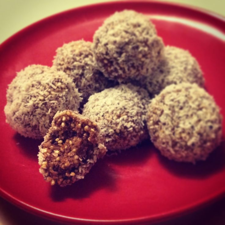 """My creation of """"Bliss Balls"""" by Janella Purcell. Such a delicious treat"""