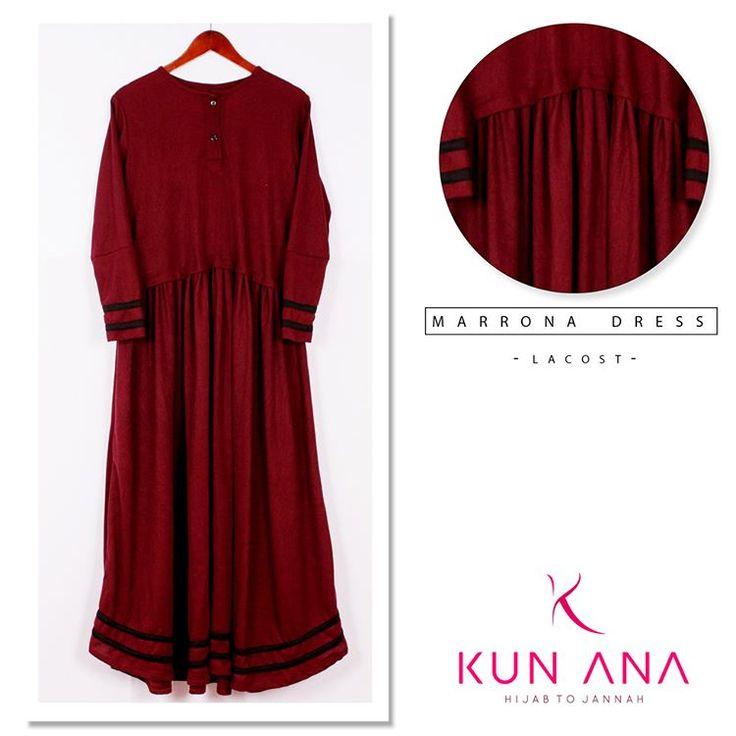Dress New Collection MARRONA DRESS By Kun Ana  Matterial : Lacoste LD : 104 TB : 130  Keep syar'i in every moment Hijab to jannah  Untuk Informasi dan pemesanan via : WA : 0859-5627-6105 BBM : 5D3C3009 LINE : kunanafashionhijab  #jilbab #jilbabsyari #jilbabterbaru #jilbabmodern #Kerudung #busanamuslim #bajumuslim #jilbabinlove #jilbabzoya #lunch #syari