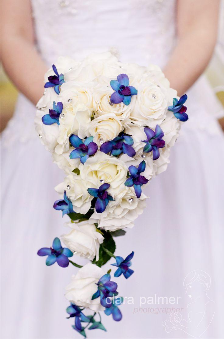 Wedding Bouquet Flowers Blue Purple White Clara Palmer Photographer Brisbane Wedding Photographer