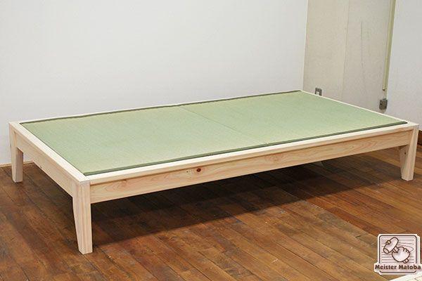 無垢国産ひのき畳ベッド 幅110センチ No1603055 畳ベッド ベッド 畳