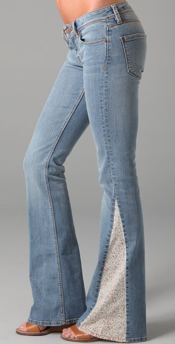 OMG!  I remember doing this to all my jeans in the 70s.