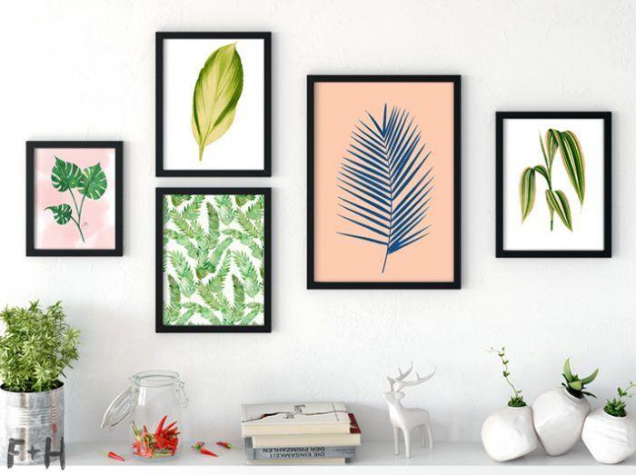 25 Free Gorgeous Tropical Leaf Prints Fox Hazel Tropical Gallery Wall Free Wall Art Free Art Prints