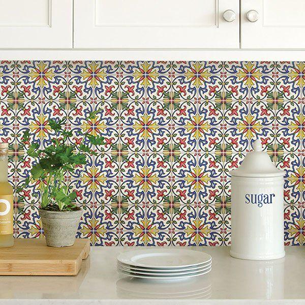 Tuscan 10 X 10 Resin Peel Stick Mosaic Tile Stick On Tiles