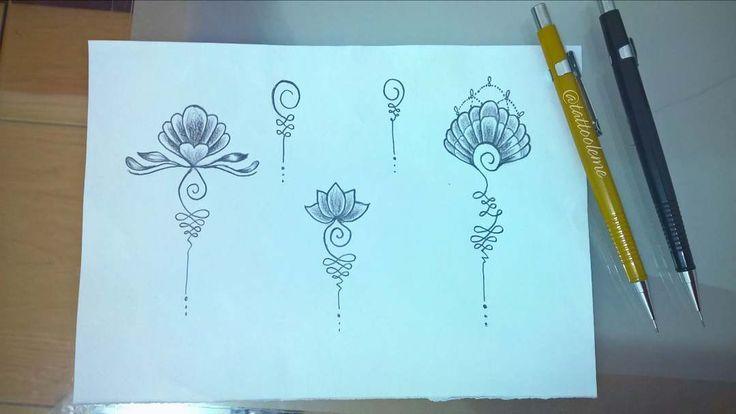 """""""Unalome é o símbolo budista que significa o caminho da iluminação, do caos ao nirvana, o caos é o meio do espiral e a linha reta o nirvana, quando deixamos de oscilar alcançamos a iluminação""""  Whats (47) 99690-3182  #estudiolemetattoo #lojaondadecores  #unalome #unalometattoo #tattoo #flordelotus #concha #desenho #desenhotattoo #esboço #art #tattooed #ink #inked #tattooer #tattooart #tattoolife #tattoogirl #tatt..."""