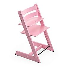 image of Stokke® Tripp Trapp® Soft Pink High Chair and Accessories