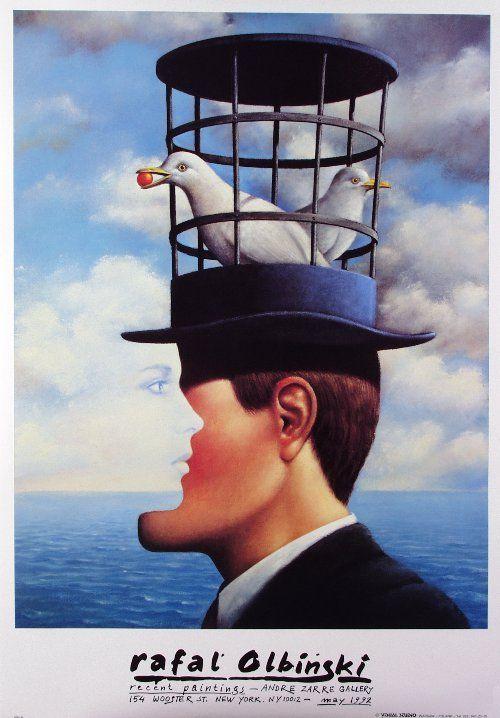 Rafal Olbinski, Recent Paintings 1992, Exhibition Poster: