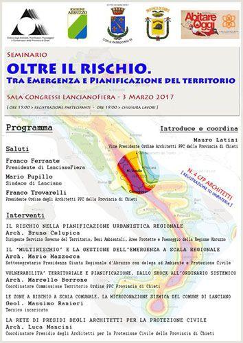 LancianoFiera  venerdi 3 marzo  il seminario: Oltre il rischio. Tra emergenza e pianificazione del territorio