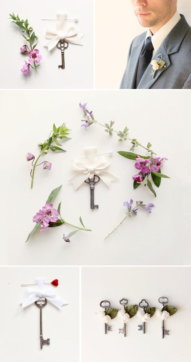 Trendy Wedding, blog idées et inspirations mariage ♥ French Wedding Blog: {DIY} La clé de la boutonnière