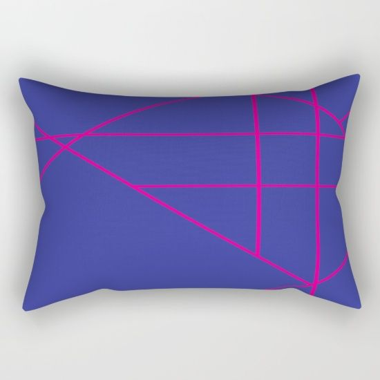 """Our Rectangular Pillow is the ultimate decorative accent to any room. Made from 100% spun polyester poplin fabric, these """"lumbar"""" pillows feature a double-sided print and are finished with a concealed zipper for an ideal contemporary look. Includes faux down insert. Available in small, medium, large and x-large. Pink, blue, fun, hot, contemporary"""