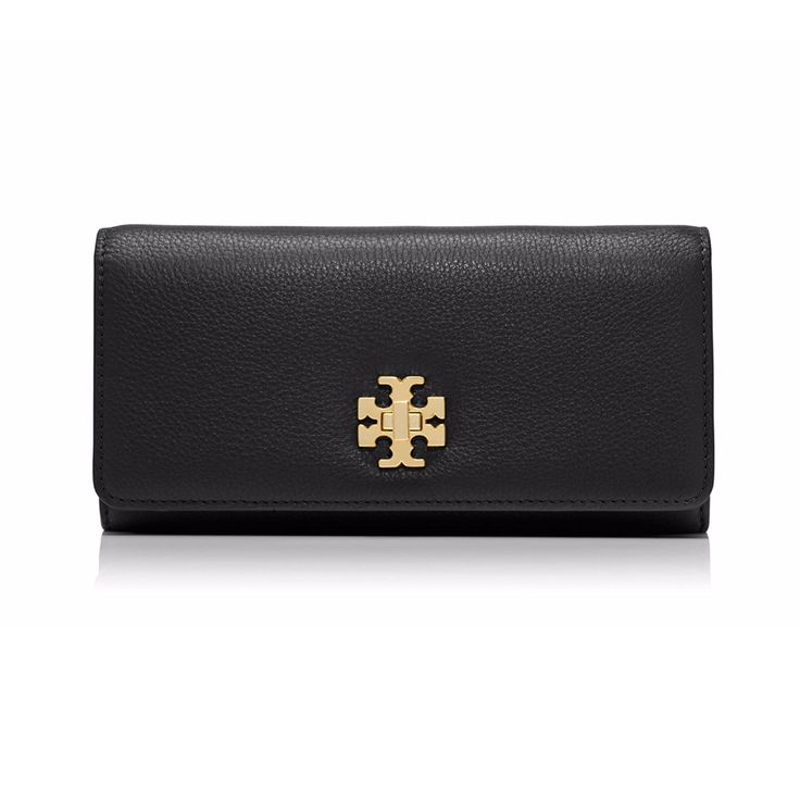 Tory Burch Mercer Envelope Continental Wallet - Black *** You can find out more details at the link of the image.