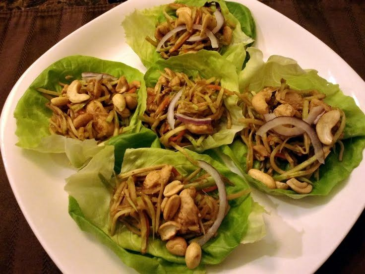 """Mu Shu Chicken Lettuce Wraps! """"A favorite of ours from restaurants, my ..."""
