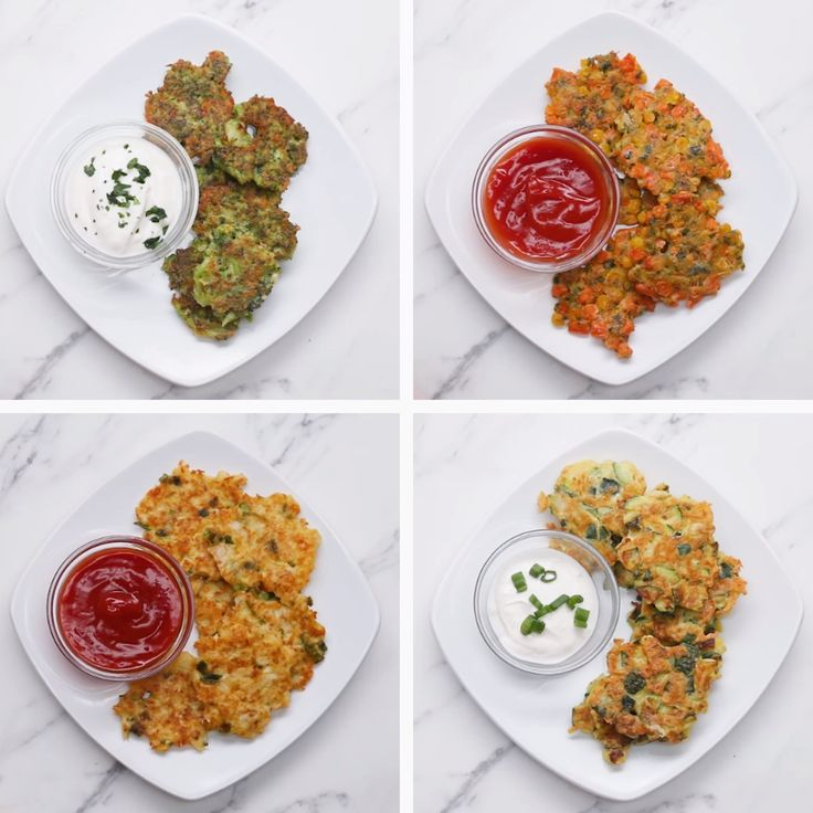 Veggie Fritters 4 Ways // #vegetables #veggiefritters #vegetarian