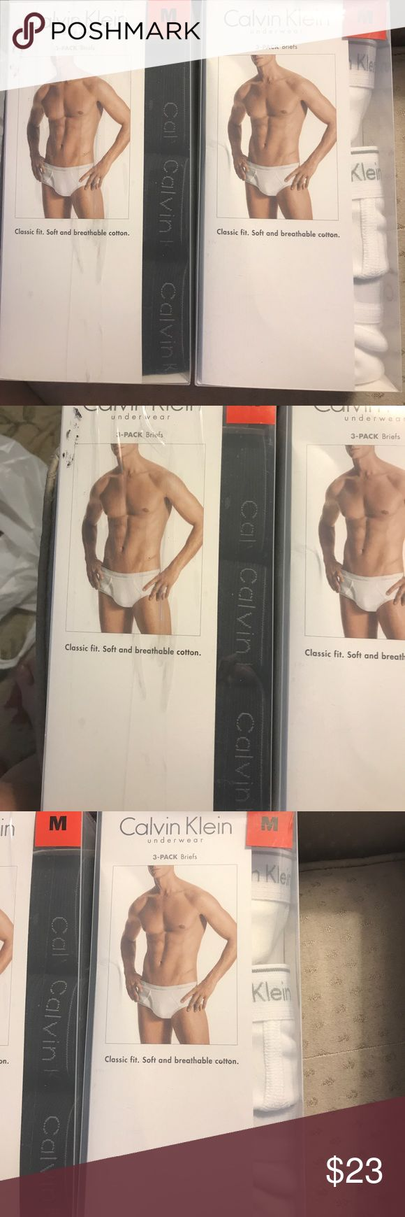 "NIB 3-pack Calvin Klein cotton briefs black Classic fit. Soft and breathable 100% cotton. Size Medium--32-34"". Calvin Klein Underwear Underwear & Socks Briefs"