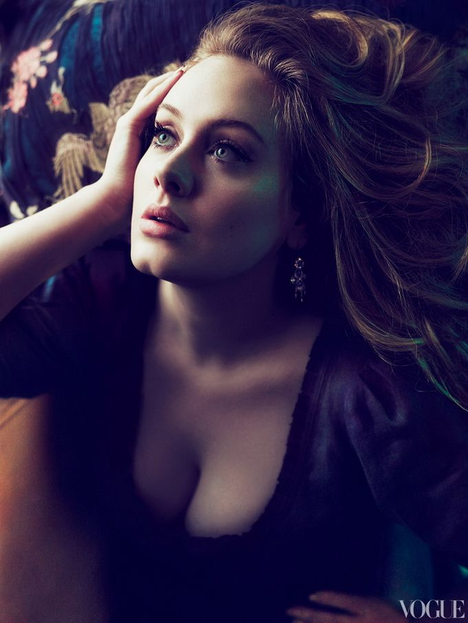 Adele Covers 'Vogue' March 2012--I need to figure out how to do my makeup like this!