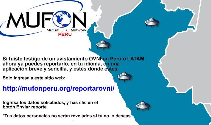 "MUFON Perú implementa aplicación ""Reporta tu avistamiento OVNI"" - http://exploracionovni.com/2015/05/mufon-peru-implementa-aplicacion-reporta-tu-avistamiento-ovni/"