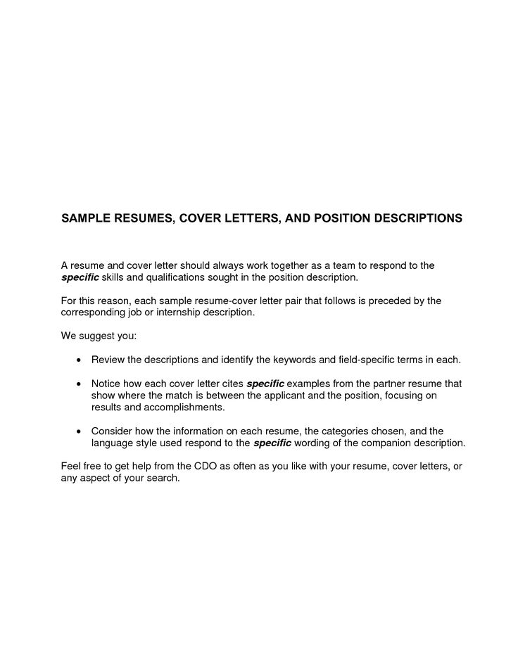 Cover Letter Samples For Resumes | Sample Resume And Free Resume