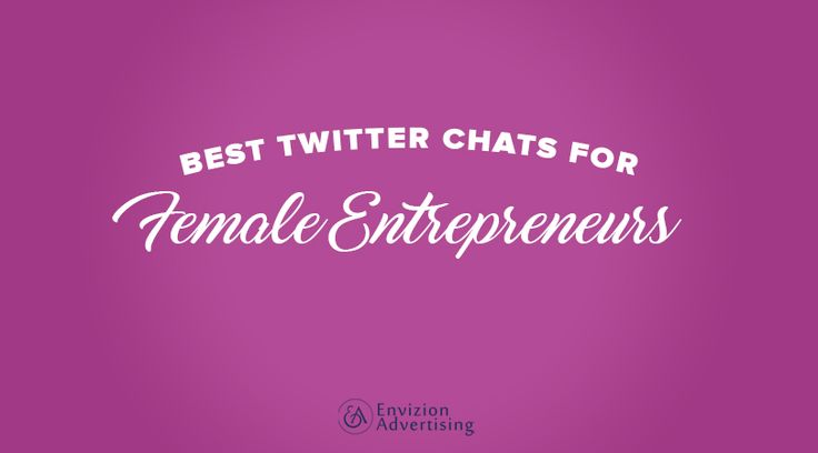 Best Twitter Chats for Female Entrepreneurs http://envizionadvertising.com/best-twitter-chats-female-entrepreneurs?utm_source=rss&utm_medium=Sendible&utm_campaign=RSS #EnvizionAdvertising
